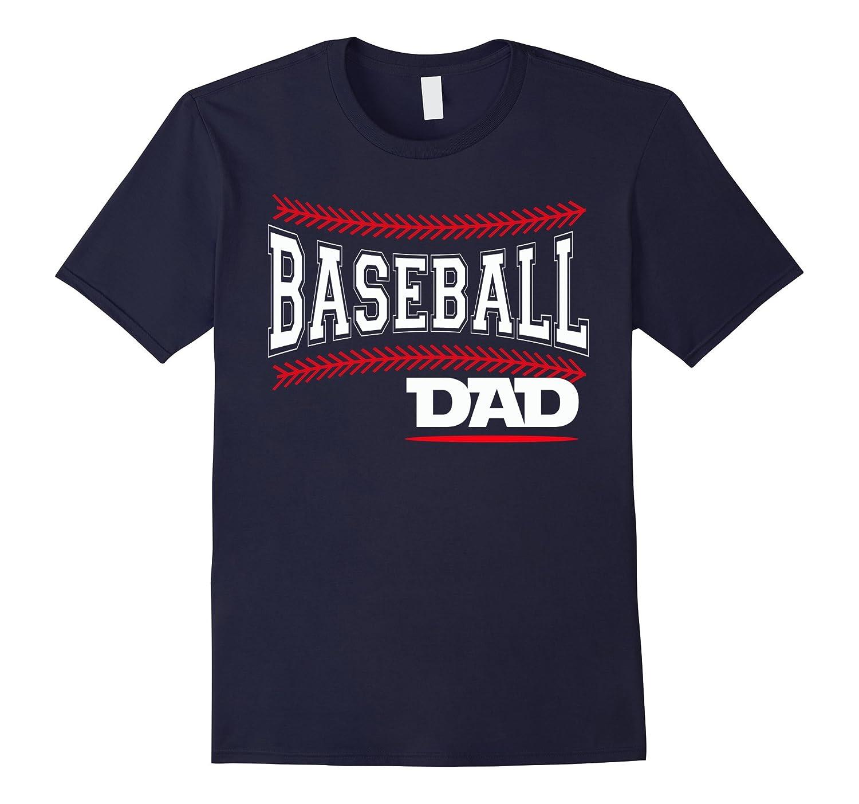 Baseball Dad Distressed Ball T-Shirt Papa Love Tee-CD