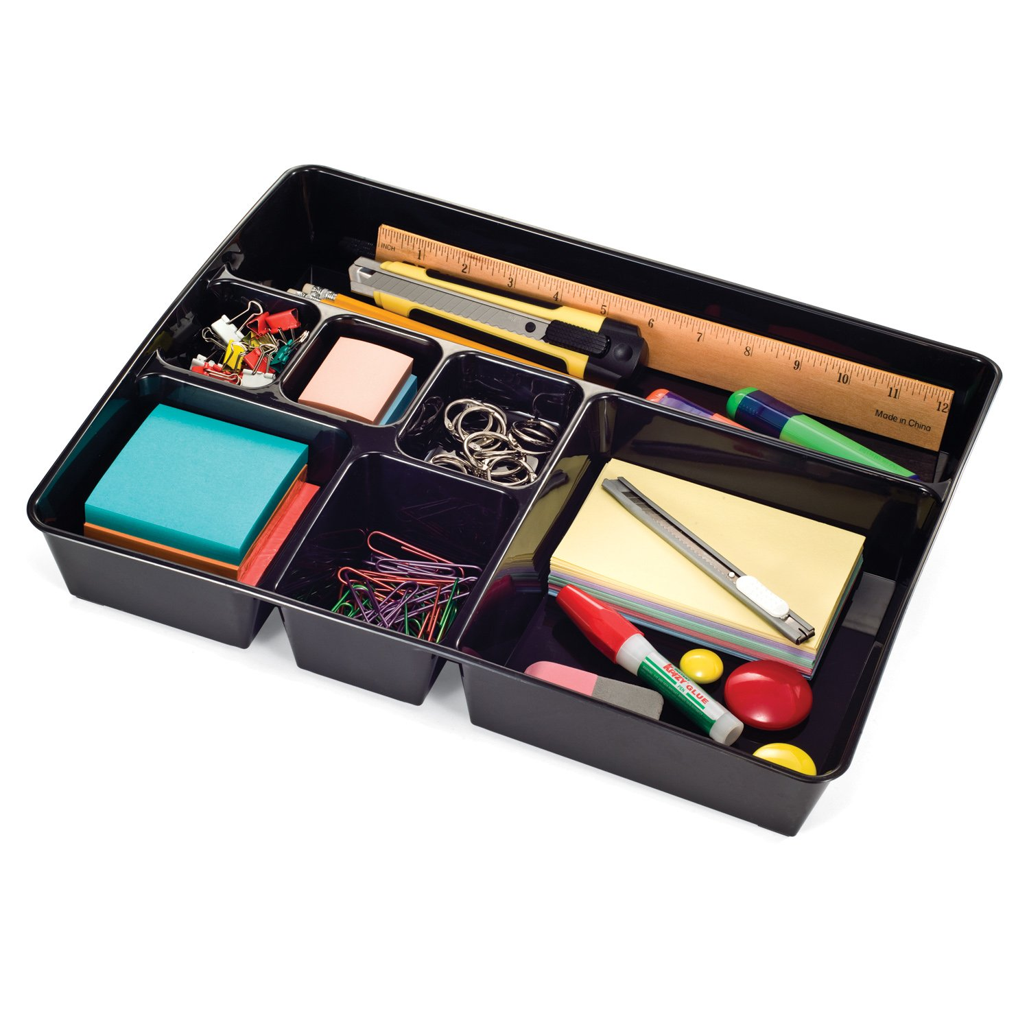 Bon Amazon.com : Officemate OIC Achieva Deep Drawer Tray, Recycled, Black  (26241) : Office Desk Organizers : Office Products