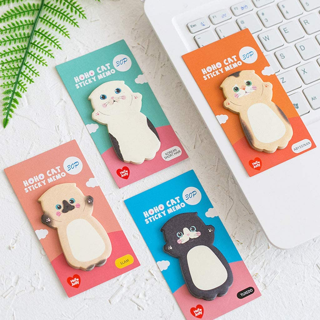 Cat Series Sticky Note Student Message Stickers N Times Memo Pad