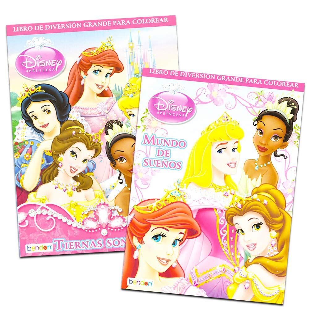 Disney Princess Coloring Book Super Set 2 Coloring Books and Stickers International Edition