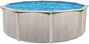 Cornelius Aquarian WAD0015D52SM Phoenix Series 15-Foot x 52-Inch Steel Frame Above Ground Outdoor Round Swimming Pool with Easy Assembly, Beige