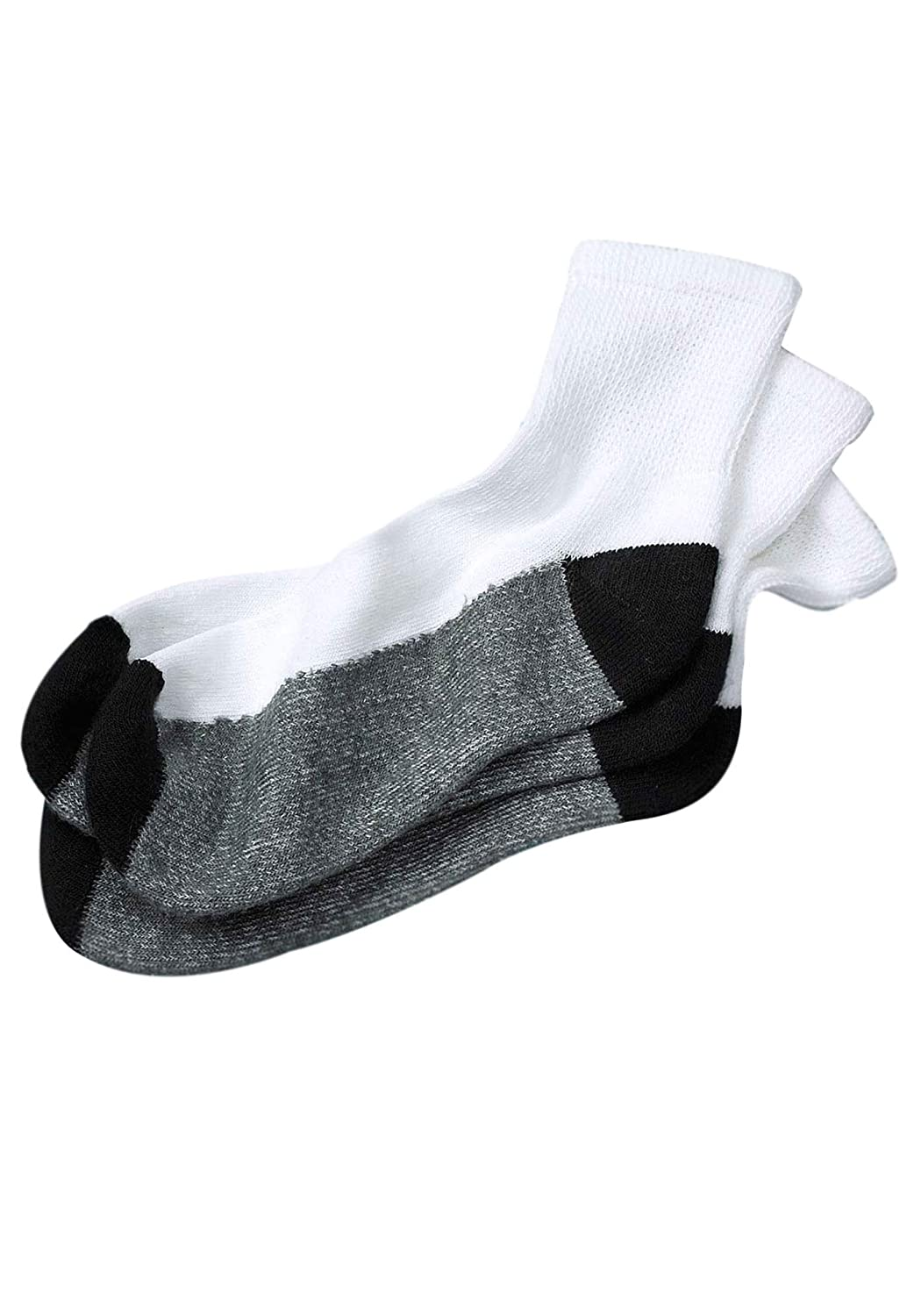 Kingsize Men's Big & Tall 3-Pack 1/4 Length Cushioned Crew Socks