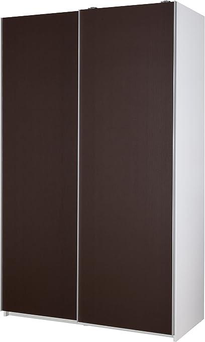 MUEBLECASA.COM Armario Puertas Correderas Premium 200cm Alto x 120cm Ancho x 60cm Fondo (Blanco/Wengue): Amazon.es: Hogar