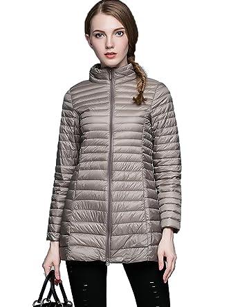 NIELLO Women&39s Lightweight Packable Long Down Jacket Outwear Zip