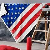 Lovely Casa P27153001 Plaid Coton Rouge 120 x 150 x 22 cm