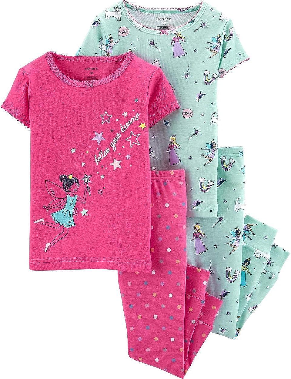 24 Months Carters 4-Piece Fairy Snug Fit Cotton PJs