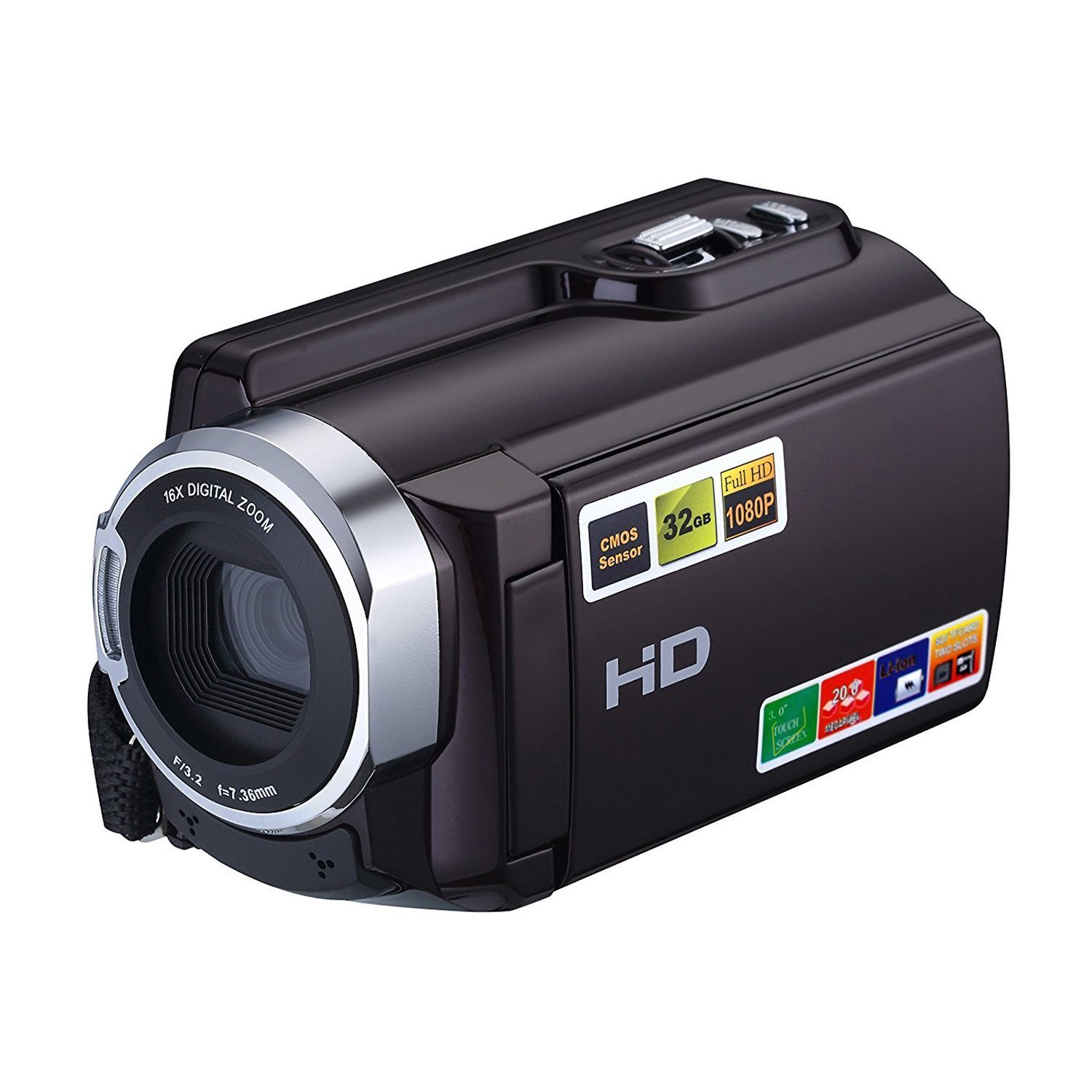 Camera Camcorder, Camking HDV-5053 24MP HD 1080P WiFi 16X Digital Zoom Video Camcorder with 3.0' LCD and 270 Degree Rotation Screen Camking HDV-5053 24MP HD 1080P WiFi 16X Digital Zoom Video Camcorder with 3.0 LCD and 270 Degree Rotation Screen