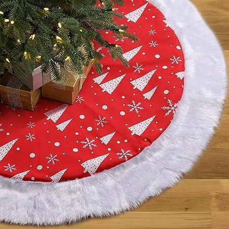 Deggodech 122cm Burlap Falda de árbol Navidad de arpillera 2018 ...