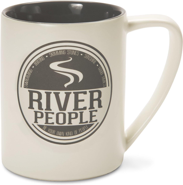 Pavilion Gray River People Mug 18oz Pavilion Gift Company 67240