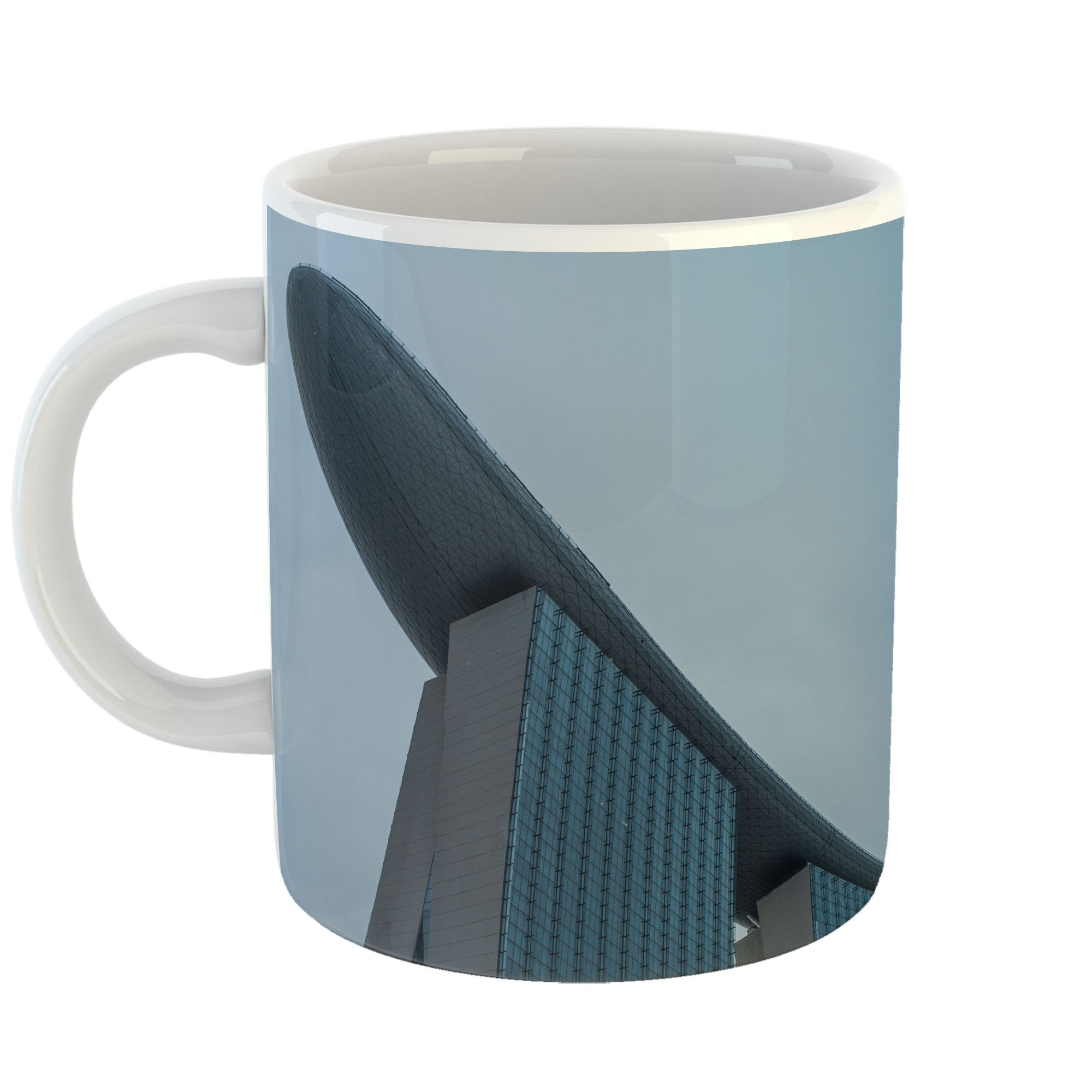 Westlake Art - Blue Hotel - 11oz Coffee Cup Mug - Modern Picture Photography Artwork Home Office Birthday Gift - 11 Ounce (4471-BD8CD)