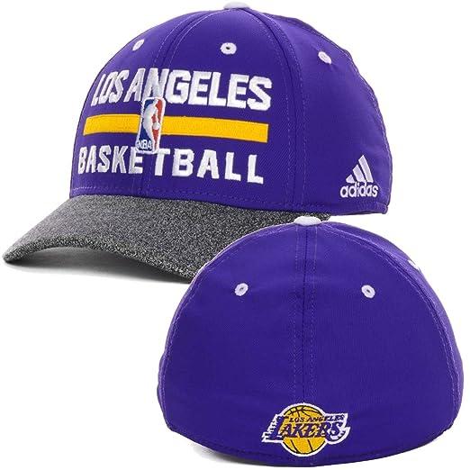 4cca49dabfd ... new zealand los angeles lakers mens adidas nba practice flex fit hat cap  85437 89bc3
