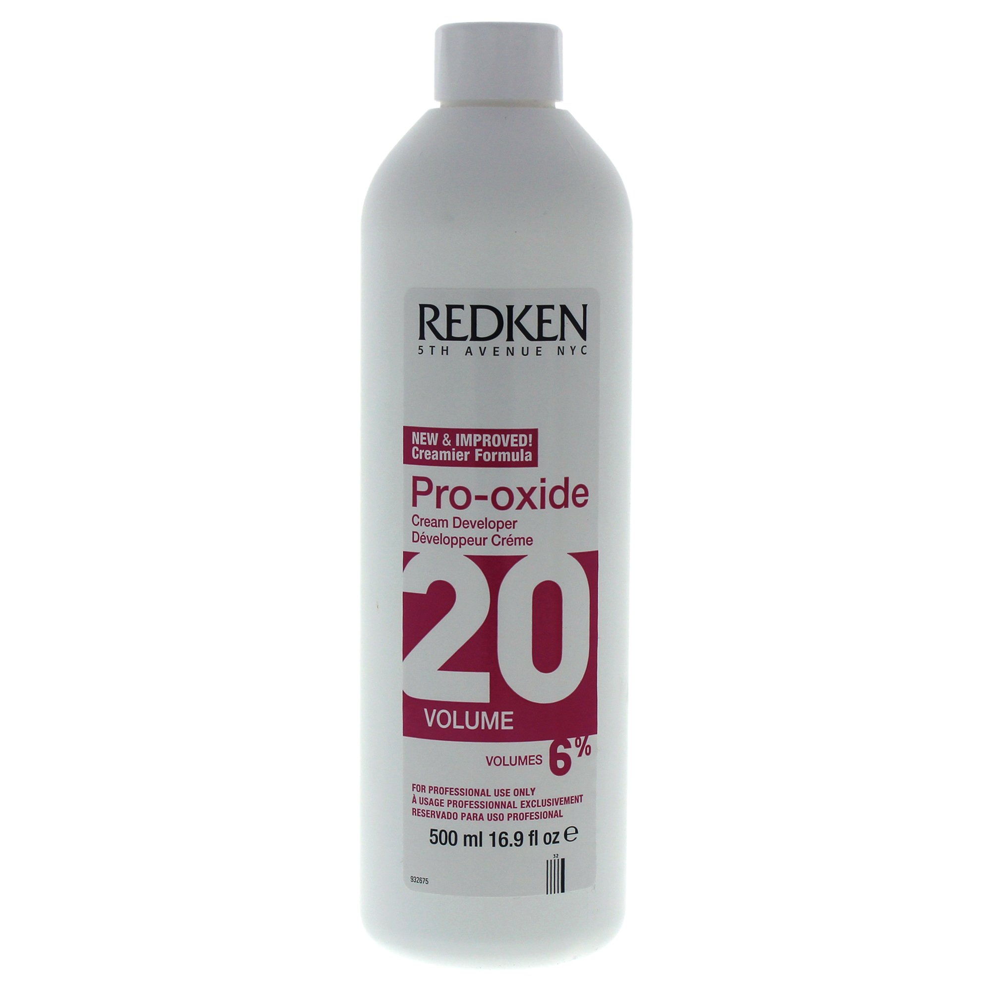 Redken Pro-Oxide Cream Developer 20 Volume Treatment for Unisex, 16.9 Ounce