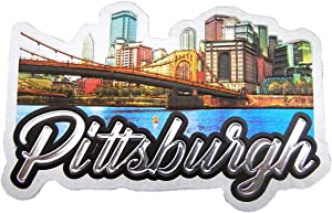 Pittsburgh City of Bridges Skyline Souvenir Exclusive Refrigerator Magnet