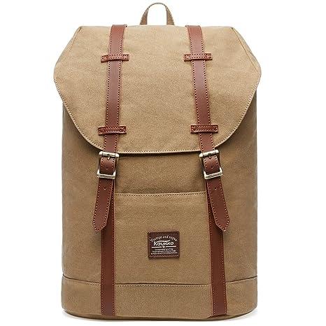 KAUKKO Rucksack Damen Herren Vintage Reiserucksack Studenten Rucksack Laptop Rucksack für 14