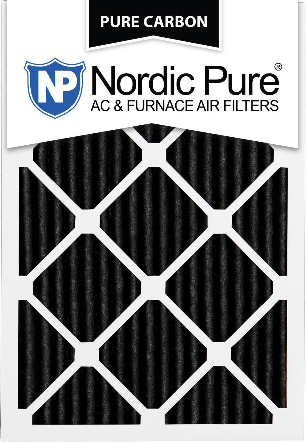 Nordic Pure 20x24x1PCP-3 20x24x1 Pure Carbon Pleated Ac Furnace Filters Qty 3