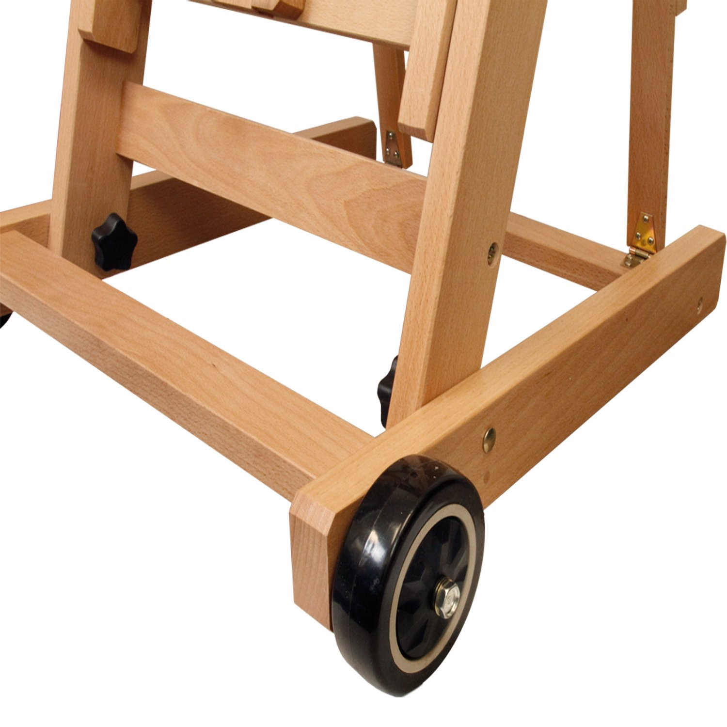 US Art Supply Master Multi-Function Studio Artist Wood Floor Easel, 19''Wide x 21''Deep x 56-1/2''High, (Adjusts to 97''High) by US Art Supply (Image #3)
