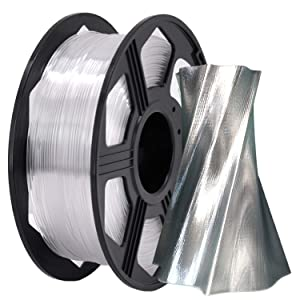 YOYI 3D Printer Filament,PETG Filament 1.75mm 2.2lbs(1kg) Spool, Dimensional Accuracy +/- 0.03 mm,100% Europe Raw Material (Clear)