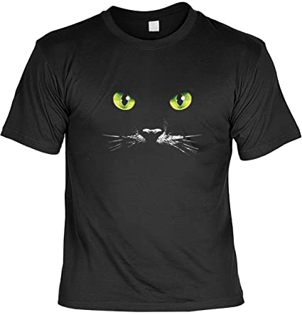 Gatos Ojos Camiseta de gato Fb Negro Negro negro Talla:4XL