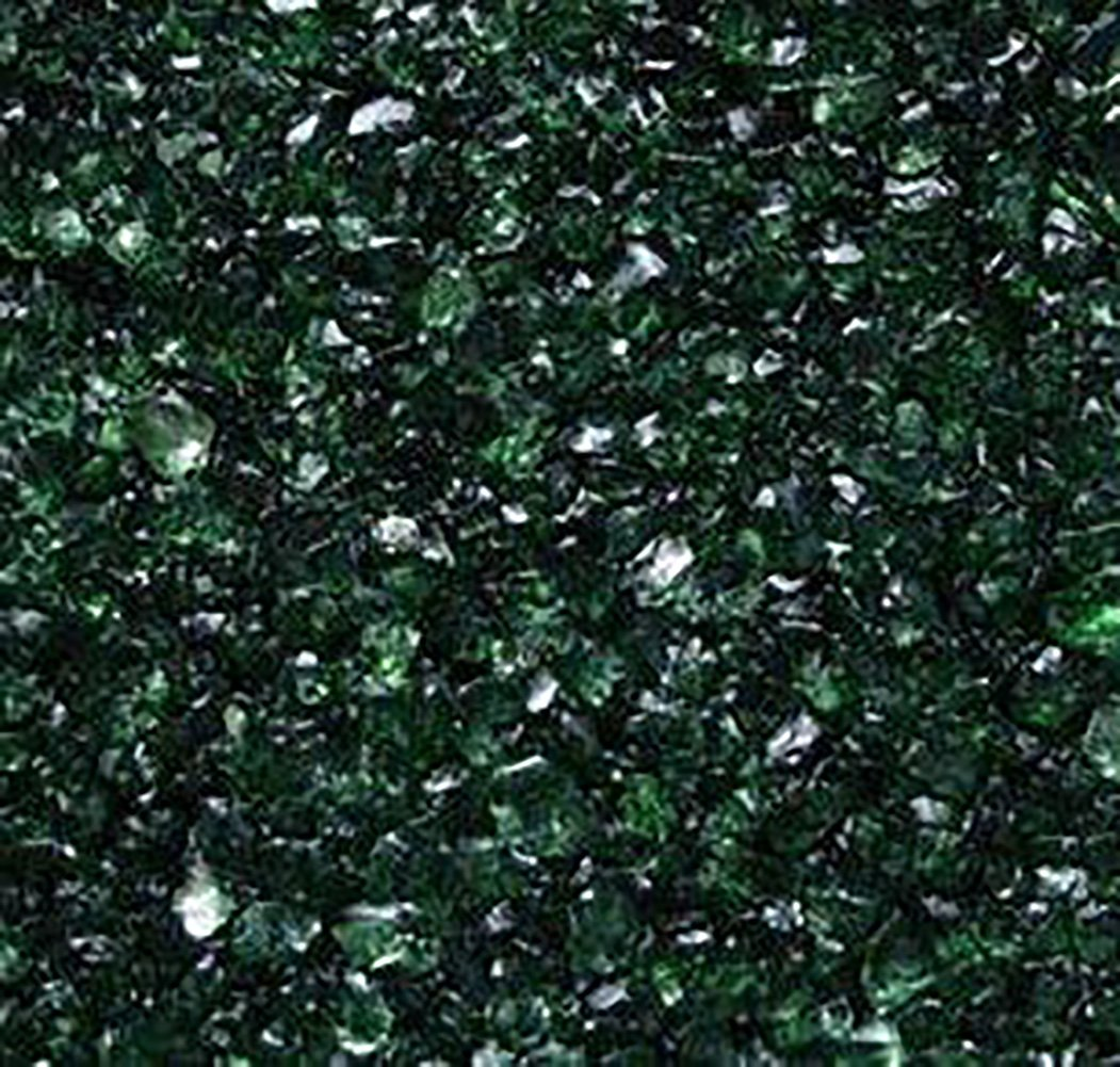 Safe & Non-Toxic {0.06'' to 0.12'' Inch} 25 Pound Bag of Clear Gravel, Sand & Pebbles Decor Made of Genuine Glass for Freshwater & Saltwater Aquarium w/ Dark Jewel Toned Trendy Versatile Style [Green]
