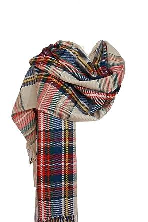 Grand pashmina châle en tartan pour femmes Taille L - Jaune - Taille unique 13f61175b85
