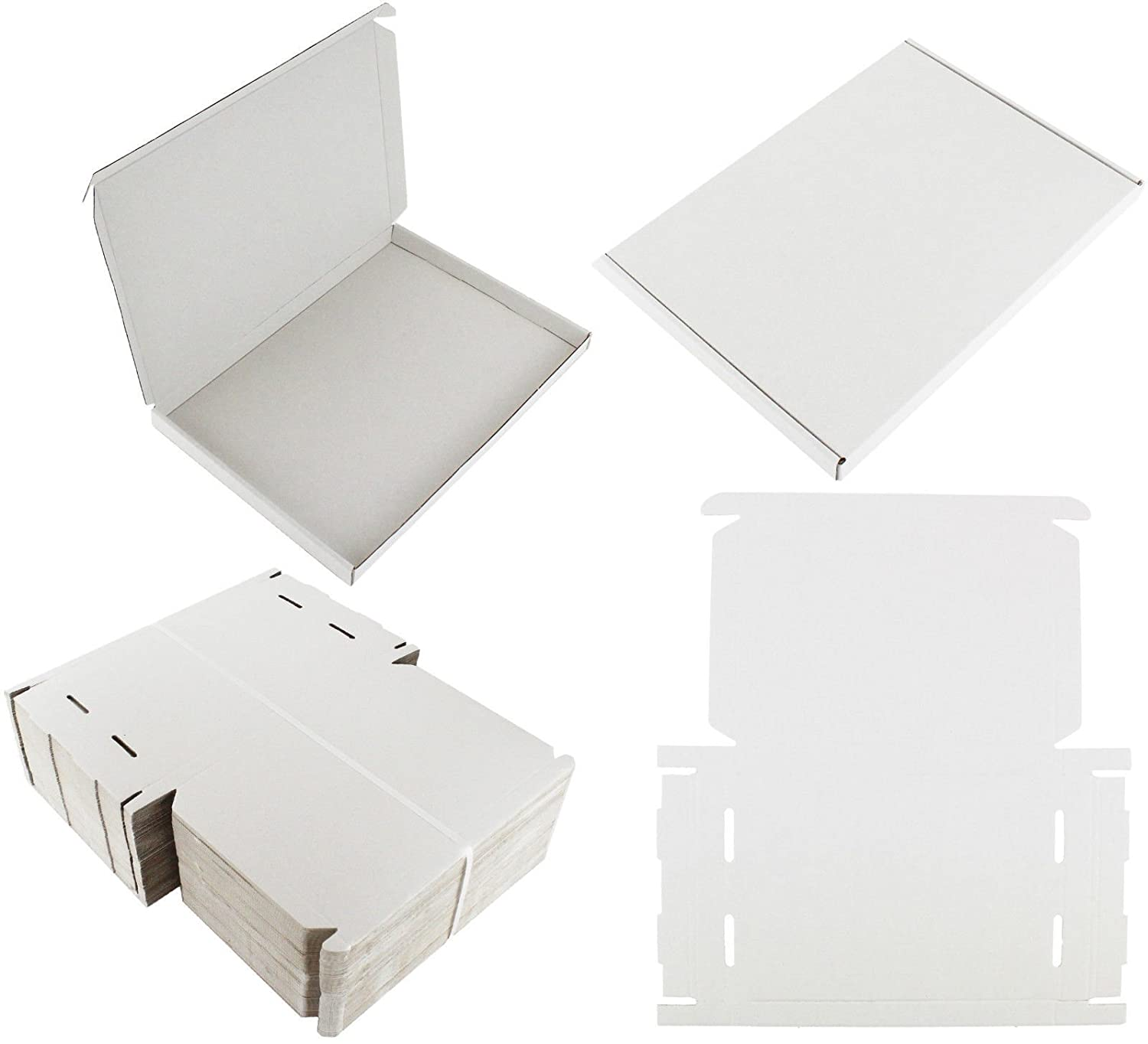 10 x WHITE C4 A4 SIZE BOX LARGE LETTER STRONG CARDBOARD SHIPPING MAILING POSTAL PIP MADE IN UK