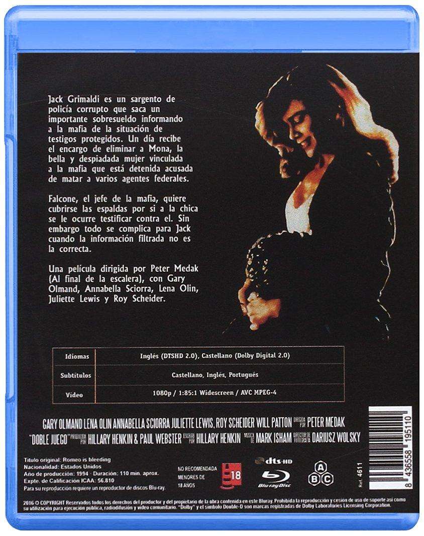 Doble Juego BD 1993 Romeo is Bleeding [Blu-ray]: Amazon.es: Gary Oldman, Lena Olin, Roy Scheider, AnnabellaSciorra, Juliette Lewis, Will Patton, David Proval, Ron Perlman, Dennis Farina, Peter Medak, Gary Oldman, Lena Olin,