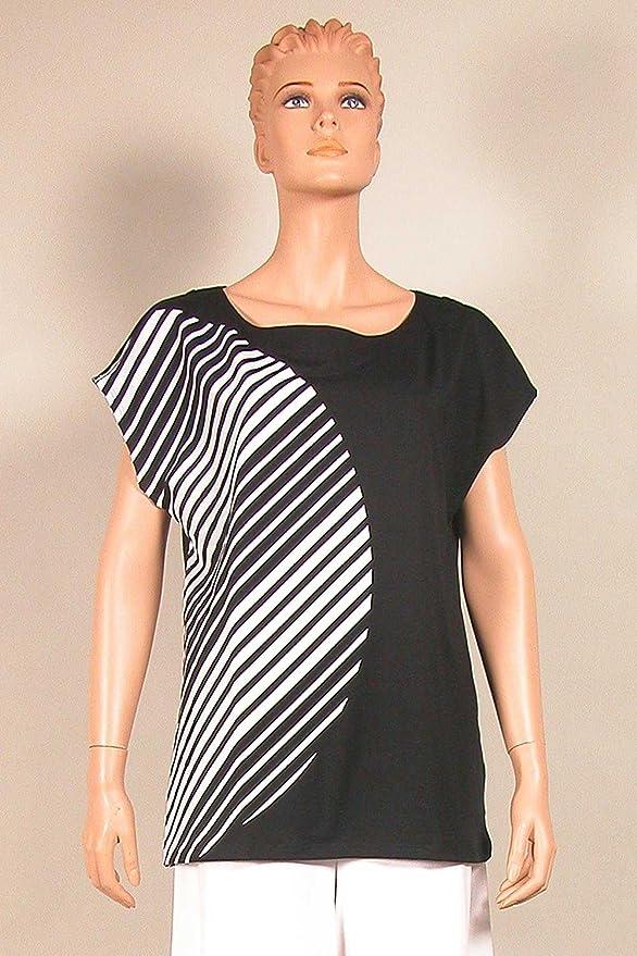 Nanso Damen T-Shirt Oberteil Shirt Aava U-Boot Ausschnitt Gr. M L XL XXL  XXXL Plusgrößen: Amazon.de: Bekleidung