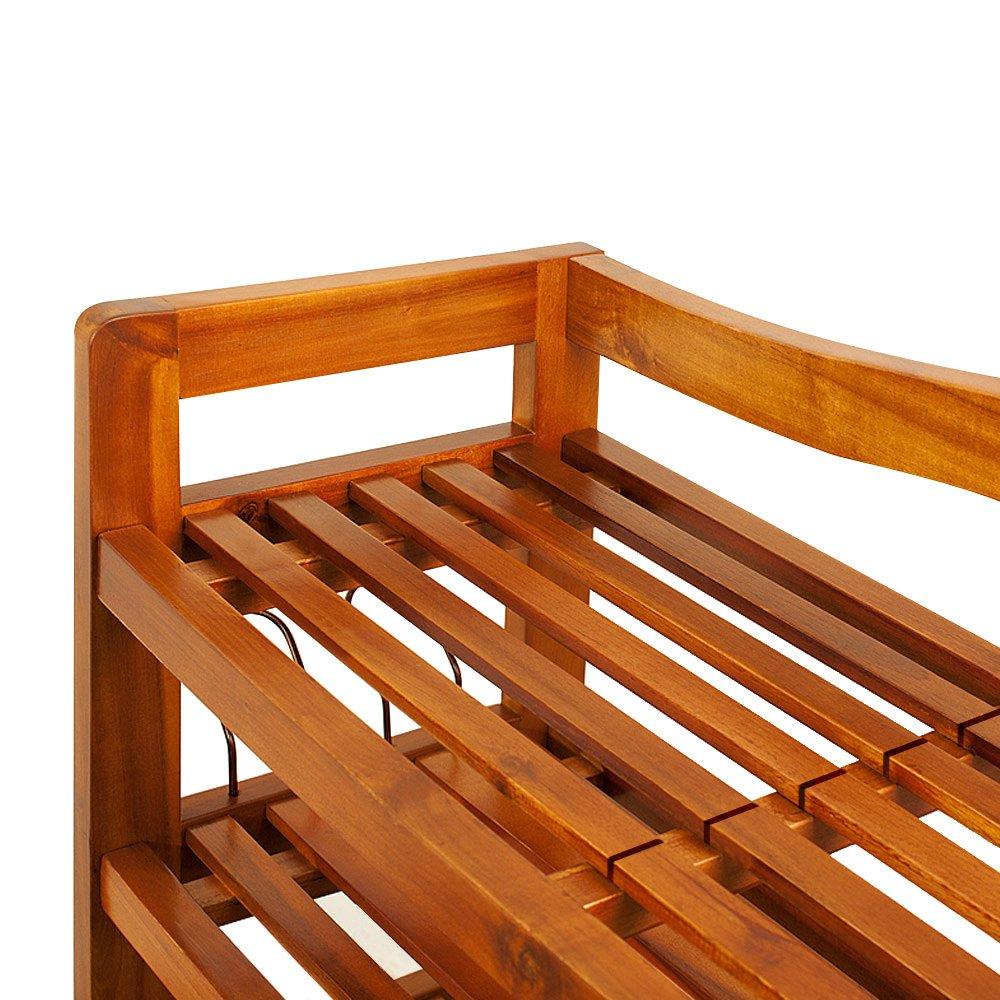 colore: marrone porta scarpe Deuba Scaffale XXL in legno di acacia scaffale 5 robusti ripiani legno massello 95 cm x 26 cm x 82 cm