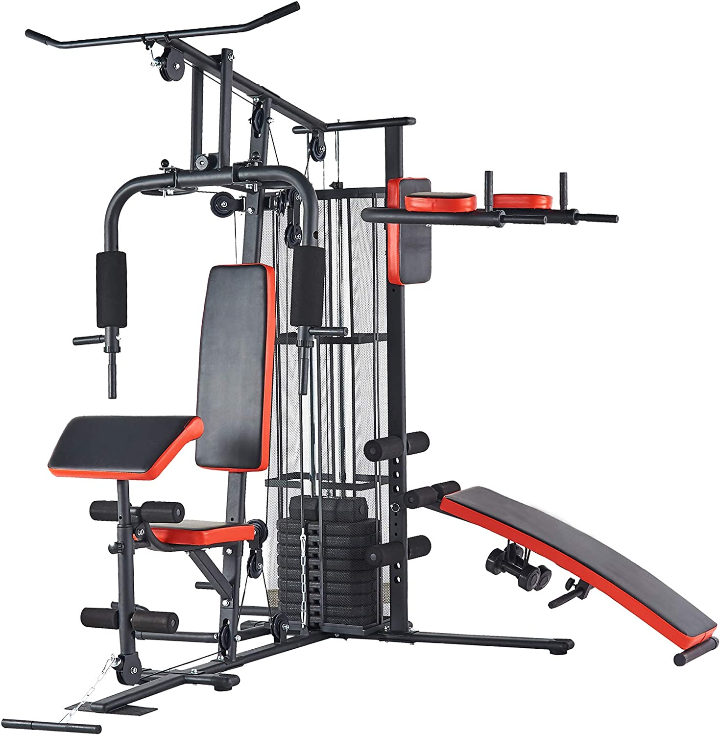 BalanceFrom RS 90XLS Home Gym System Multiple Purpose Workout Station with 380LB of Resistance