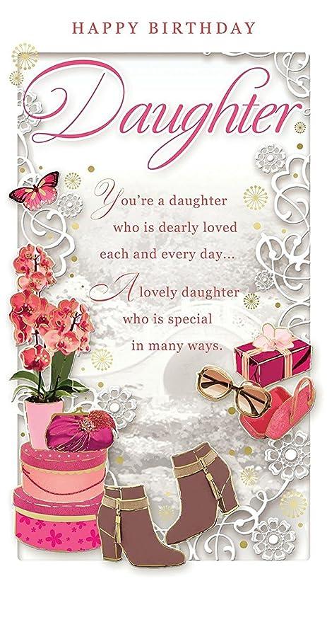 Biglietto Di Auguri Di Buon Compleanno Dedicato Ad Una Figlia Con