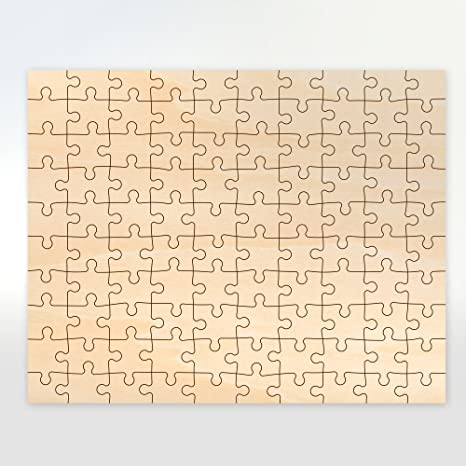 Blank 100 Piece Wooden Puzzle