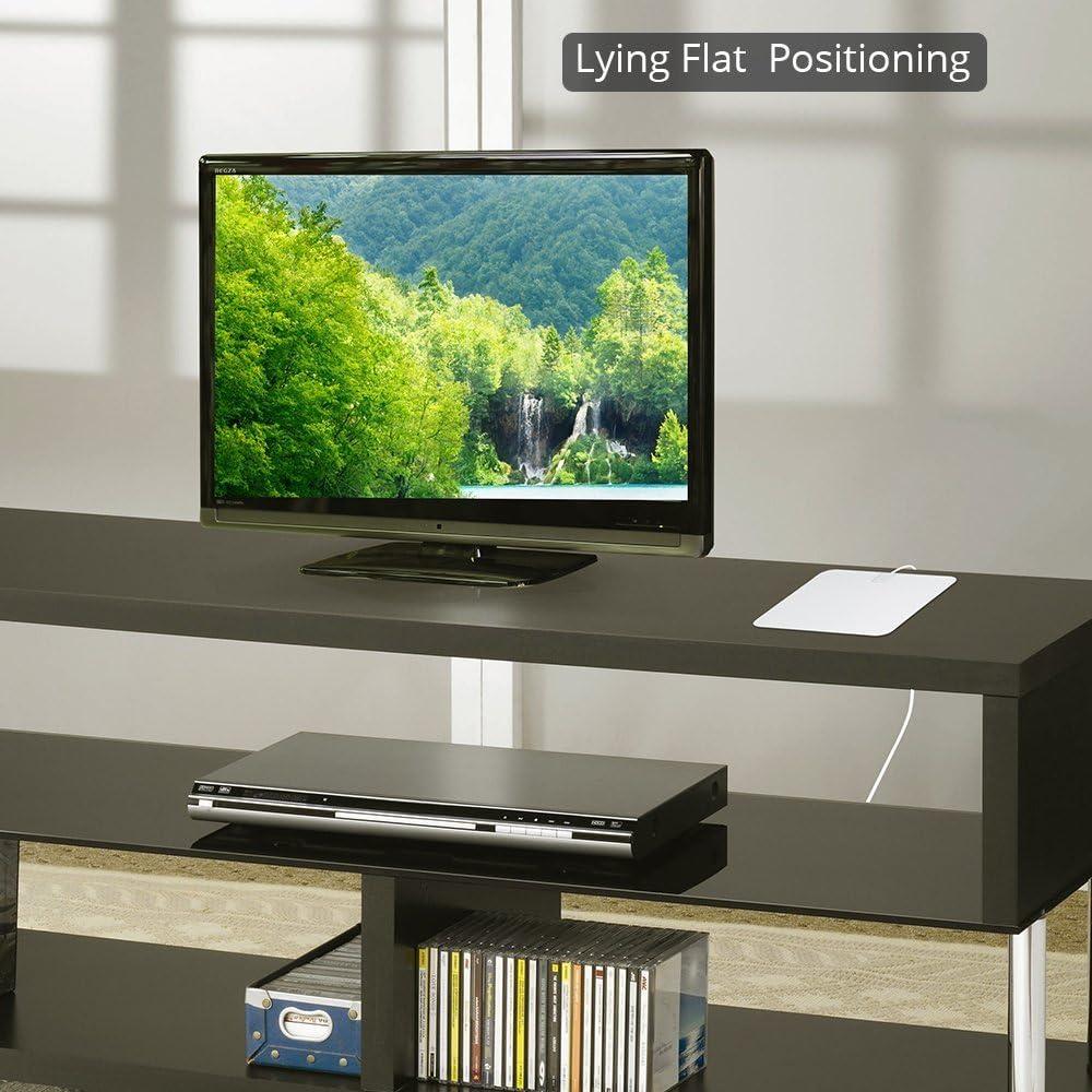 Antena de HDTV amplificada- Capítulo siete Antena de TV digital para interiores, alcance de 50 millas con amplificador desmontable, cable coaxial de cobre de 16.4 pies y fuente de alimentación USB-Bla: Amazon.es: