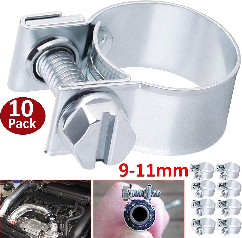 10-12mm ADPDP17 10x Mini Fuel Line Jubilee Hose Clips Clamp Diesel Petrol Pipe Coolant Radiator