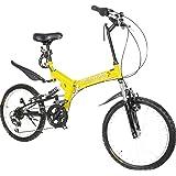 折りたたみ自転車 マウンテンバイク AJ-G-01 フルサスペンション MTB 20インチ フロントライト・ワイヤーロック錠サービス シマノ6段変速ギア