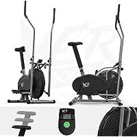 We R Sports 2-en-1 Elíptico Cruzar Entrenador Y Ejercicio Bicicleta Aptitud Cardio Ejercitarse Con Asiento