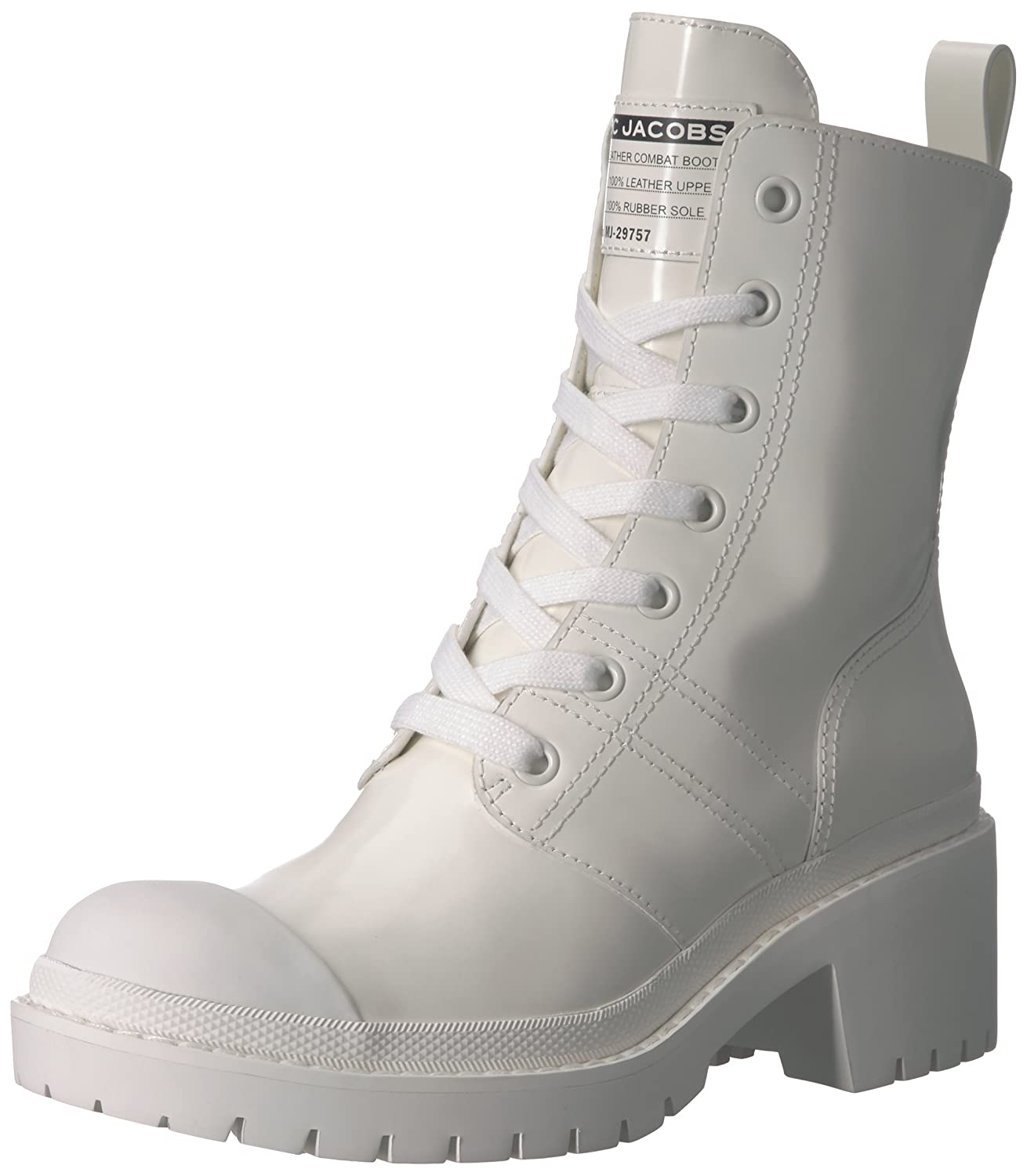 Marc Jacobs Women's Bristol Laced Ankle Boot B07822SR7F 37.5 M EU (7.5 US)|White
