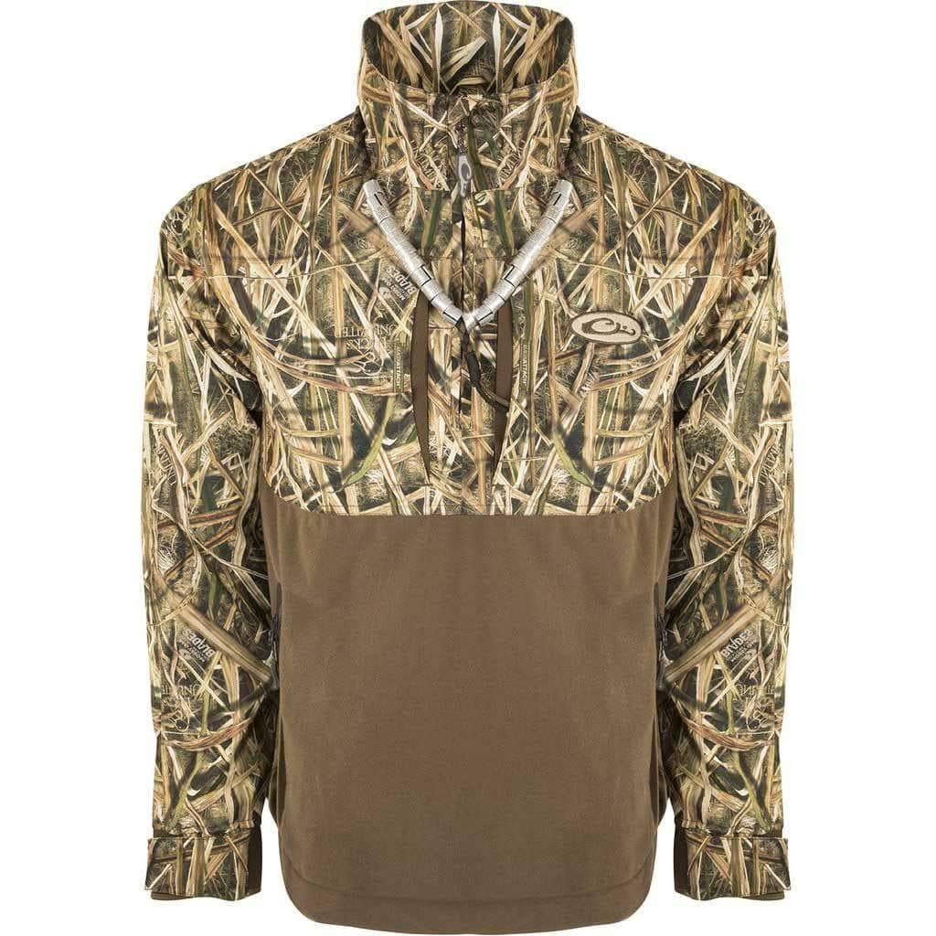 Drake Guardian Flex 1//4Zip Eqwader Shell Jacket Blades MED