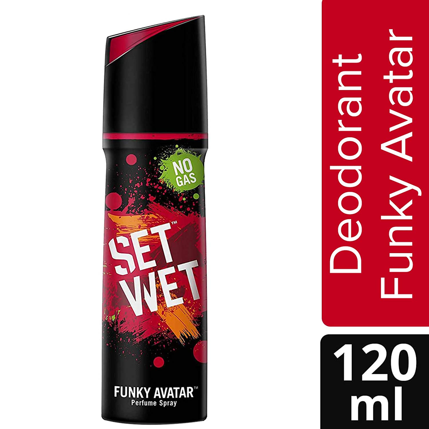 1a92f372f9 Buy Set Wet Funky Avatar No Gas Deodorant, 120 ml Online at Low Prices in  India - Amazon.in