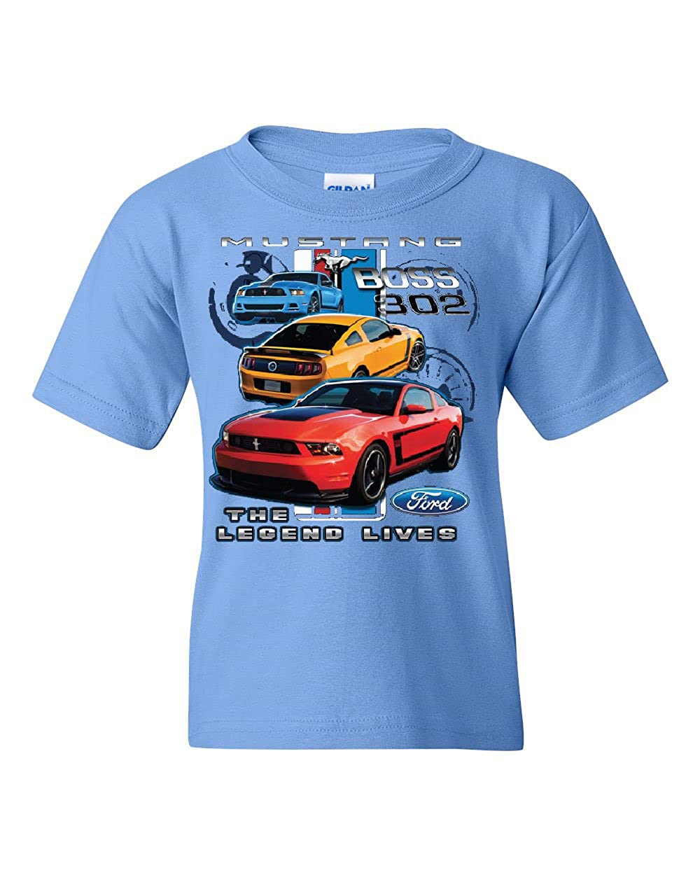 Ford Mustang The Legend Lives Youth T-Shirt Licensed Ford Design Tee 100034-YT2
