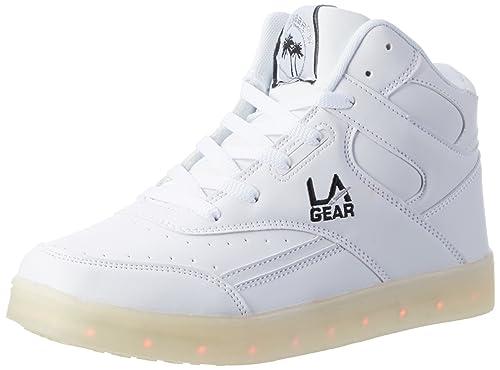 Flo Lights II, Zapatillas Altas Para Mujer, Weiß (White/Blk), 37 EU L.A. Gear