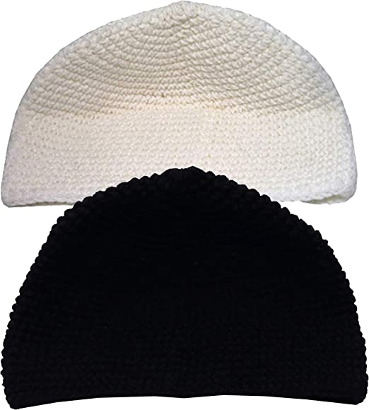 2 Pk Hand Crochet Prem Beanie Hats