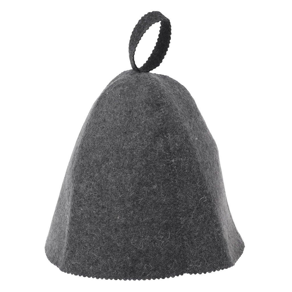 Guoyy Chapeau russe de banya de chaleur de chapeau de sauna de feutre de laine pour la protection de tê te de Bath