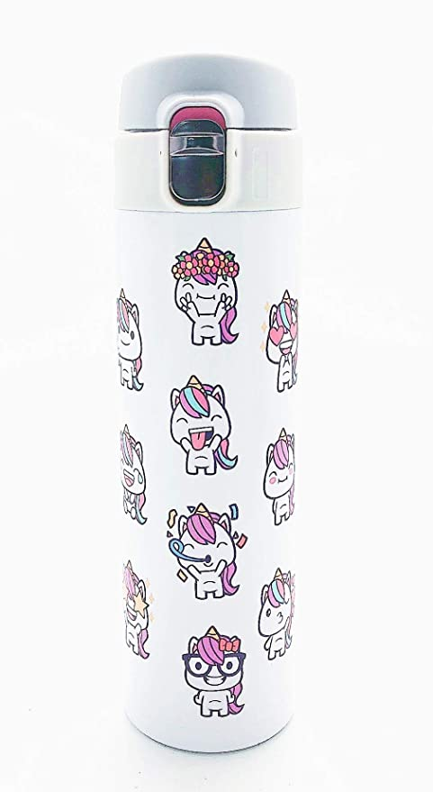 Amazon.com: Botella de agua de unicornio de acero inoxidable ...