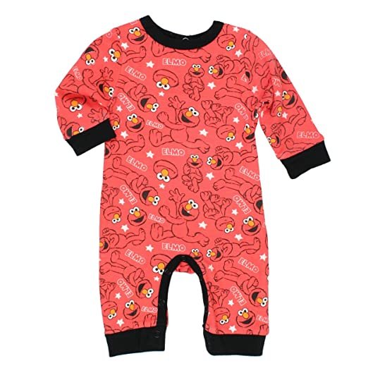 Amazon Com Sesame Street Elmo Boys Coverall Romper Baby Clothing
