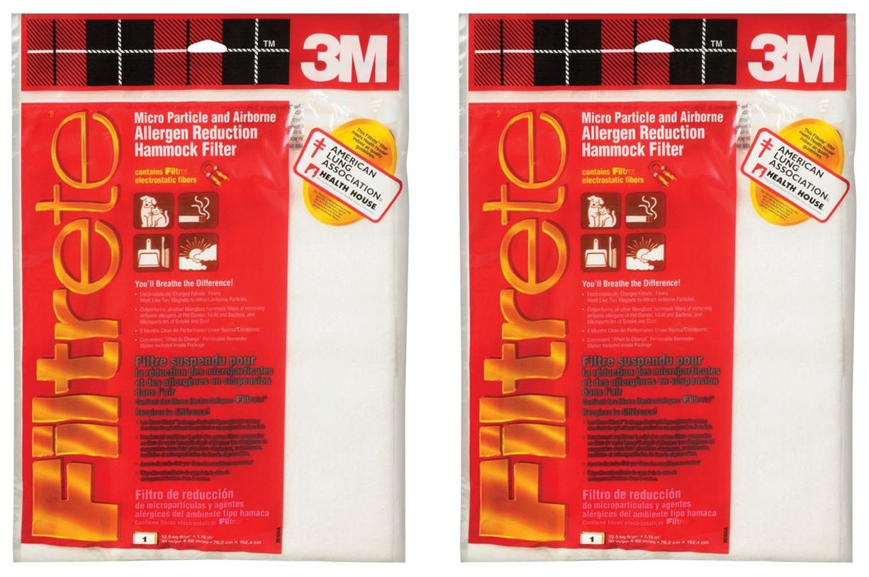 30x60 (cut-to-fit) Filtrete Hammock Filter by 3M - Pack of 2