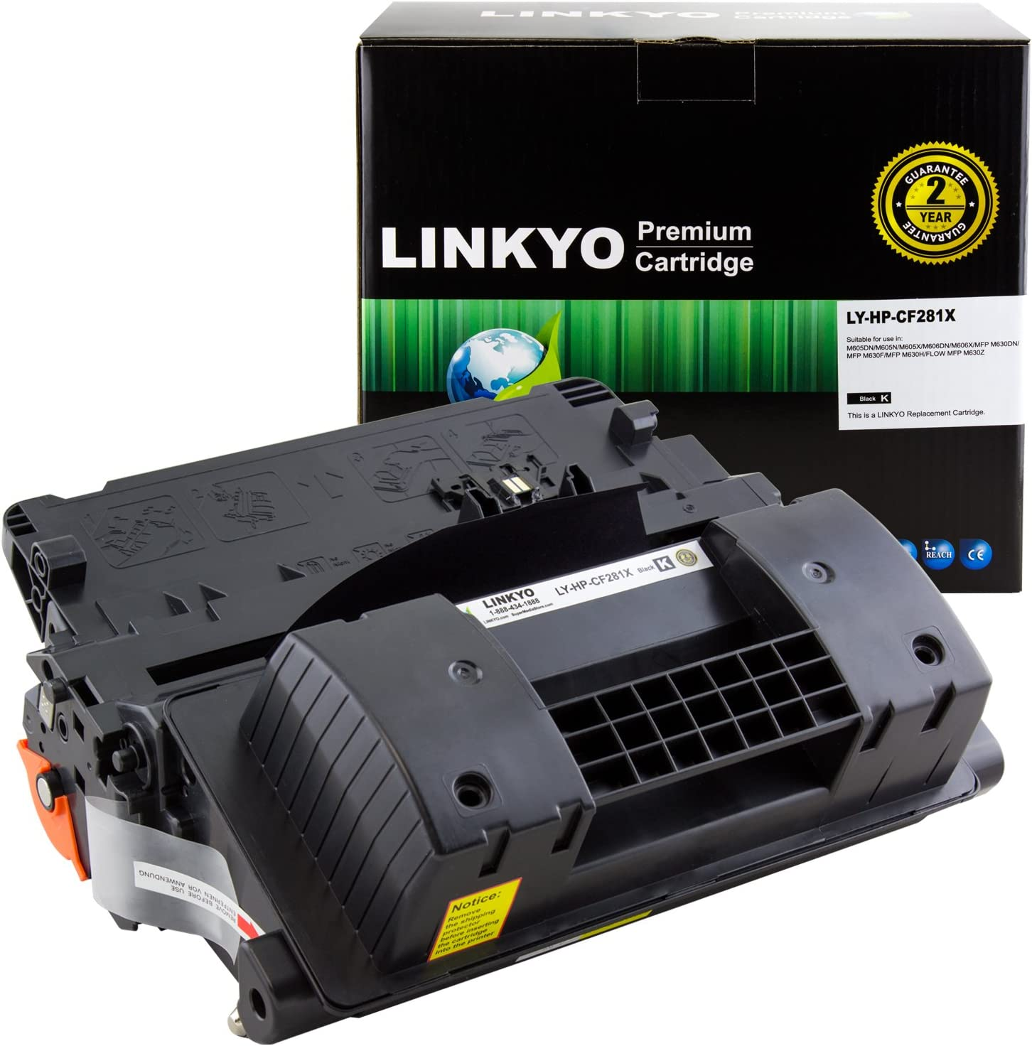 LINKYO Compatible Toner Cartridge Replacement for HP 81X CF281X (Black, High Yield)