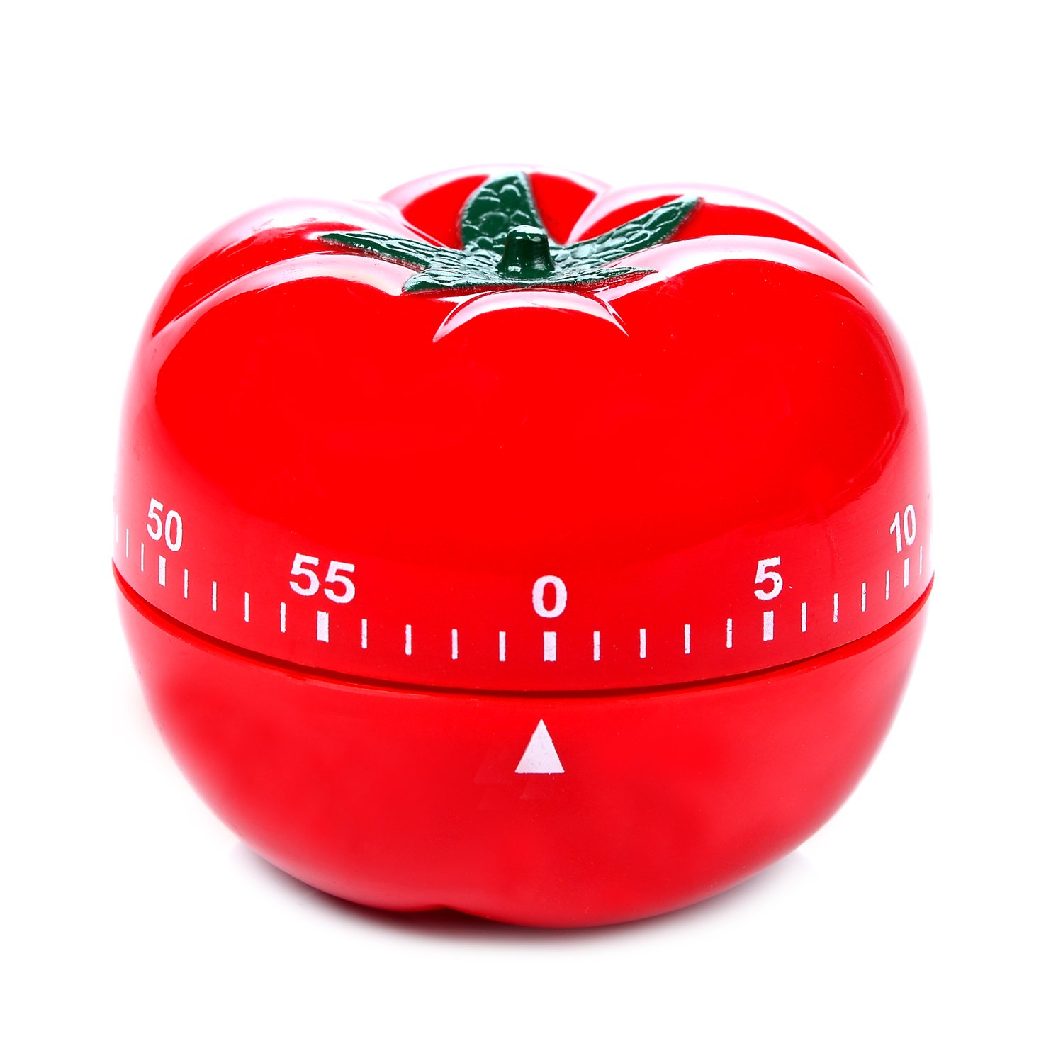 LEMEGO Kitchen Timer Cooking Timer Digital Loud Mechanical Alarm Retractable Countdown Clock 55 Minute (Red Tomato)