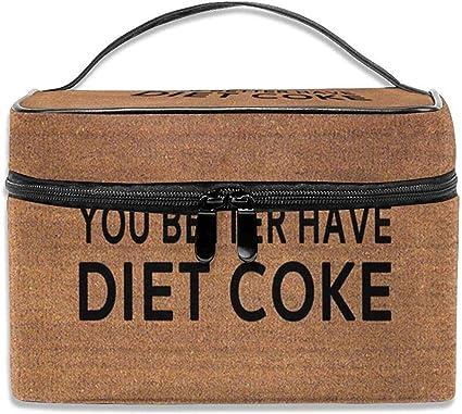 Potrebbe essere meglio avere una dieta Coca-Cola Borsa per il trucco Borsa per cosmetici Borsa da viaggio per donna Uomo Ragazza: Amazon.es: Belleza
