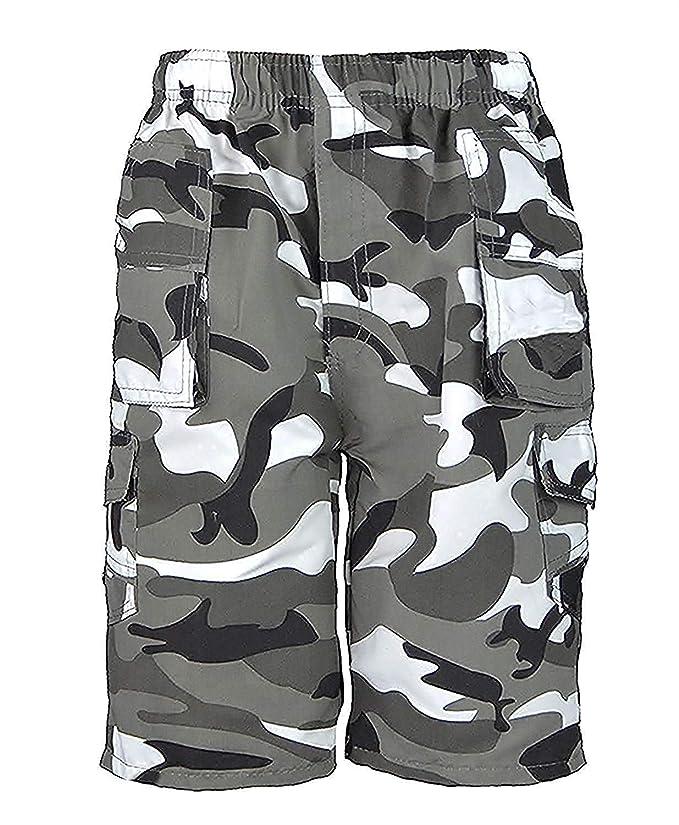 3 opinioni per Bambini Tinta Unita & Mimetico Multitasche Pantaloncini Da Bambini Militare