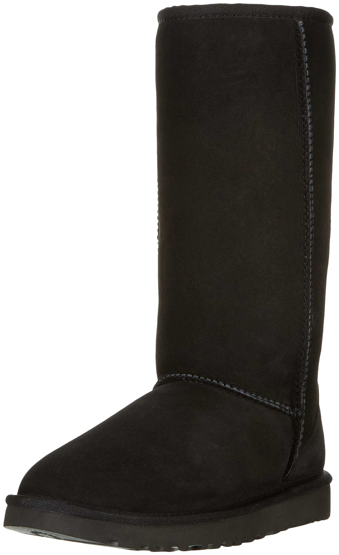 UGG Women's Classic Tall II Winter Boot, Black, 8 B US by UGG